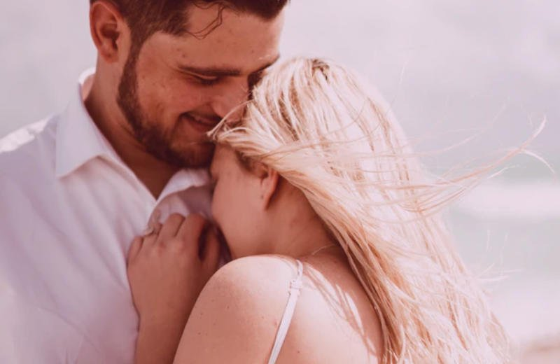 Happy woman finding her right guy